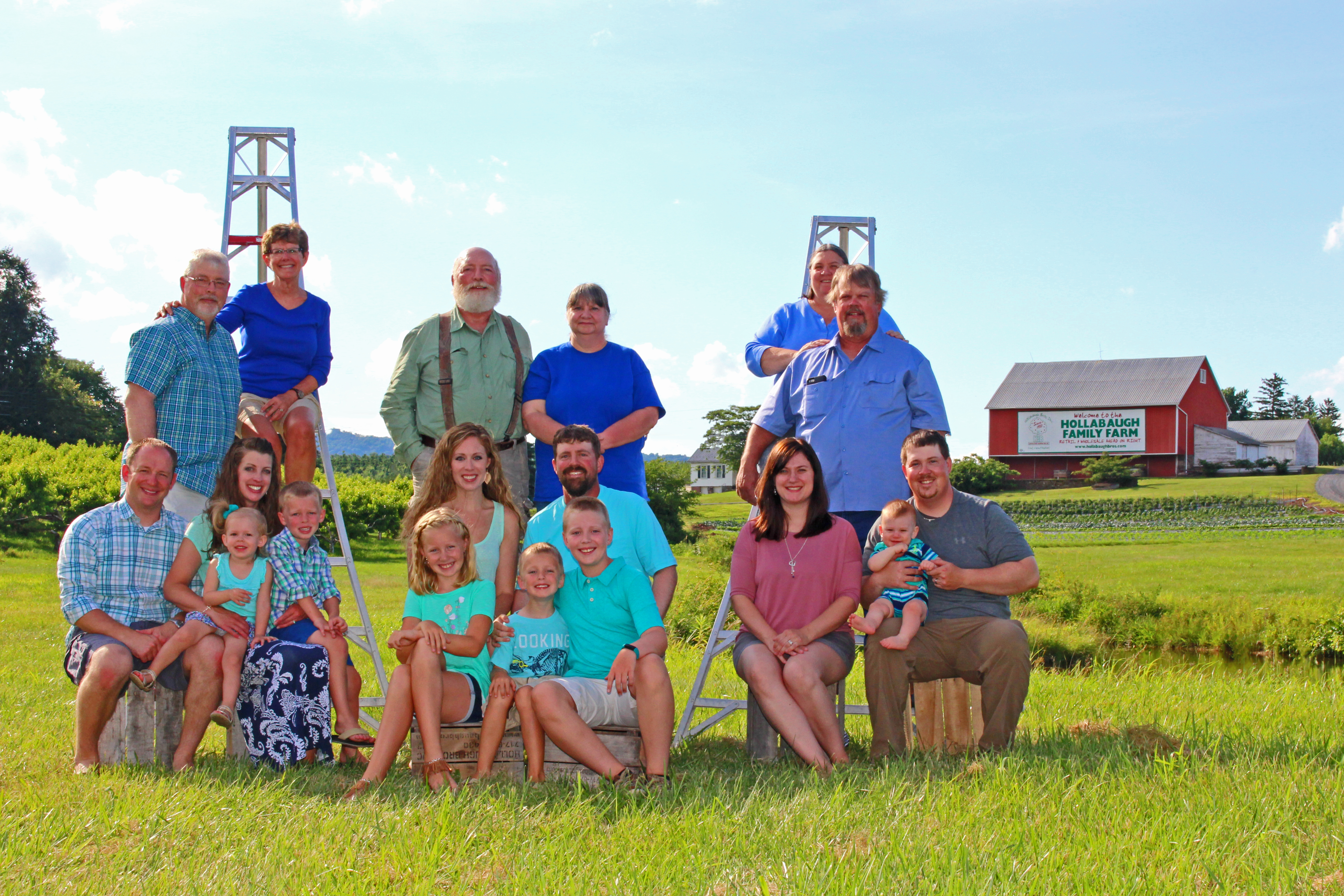 Hollabaugh Family, Second and Third Generations
